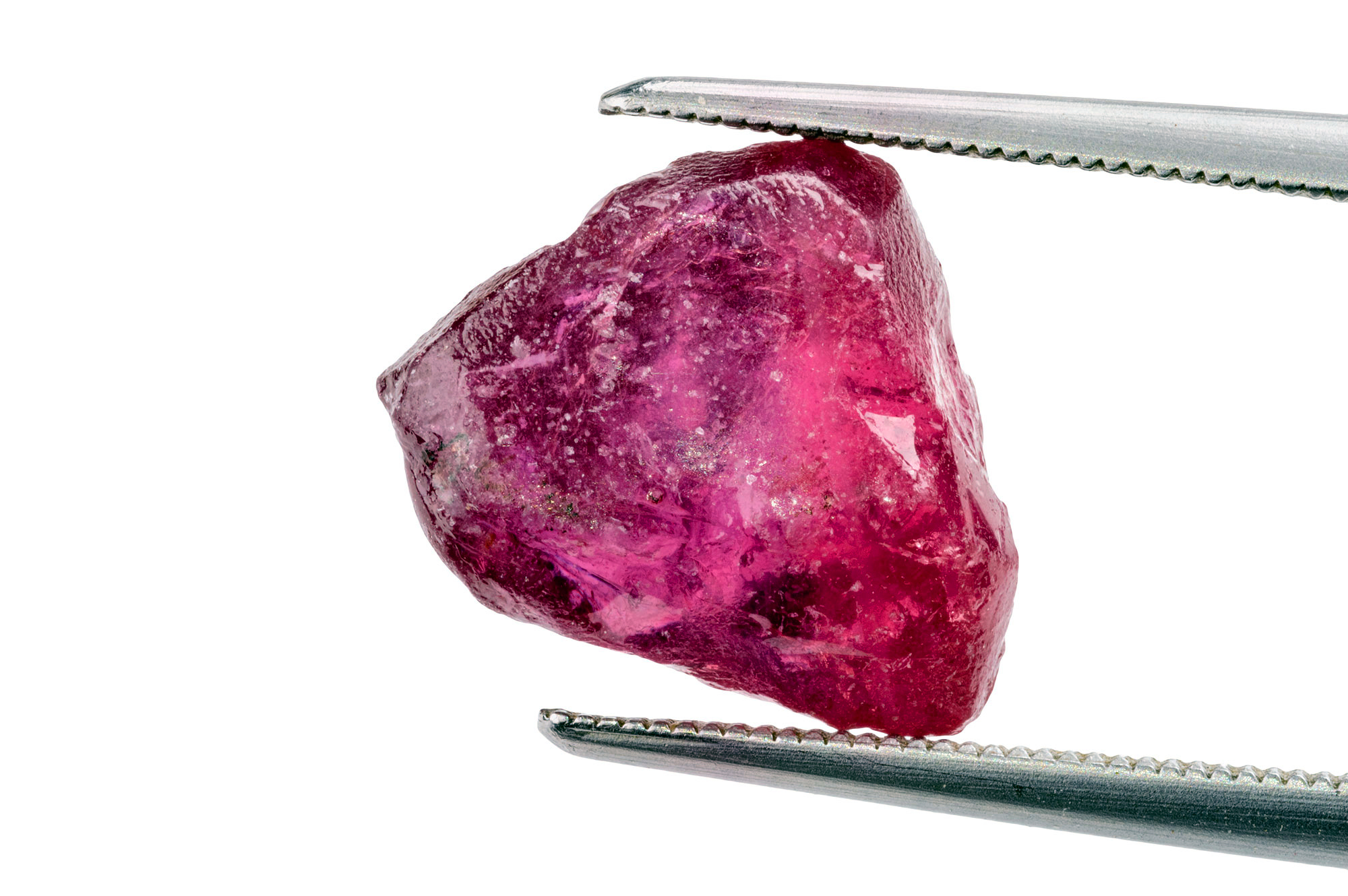 Close up a ruby crystal