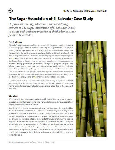 Thumbnail cover - Sugar Association of El Salvador Case Study