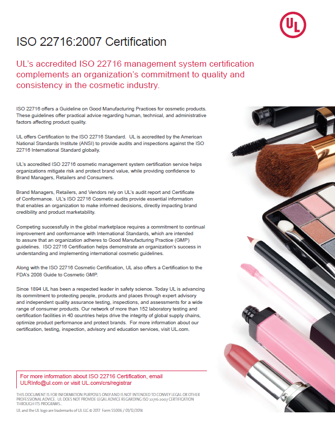 Thumbnail - ISO 22716 Certification