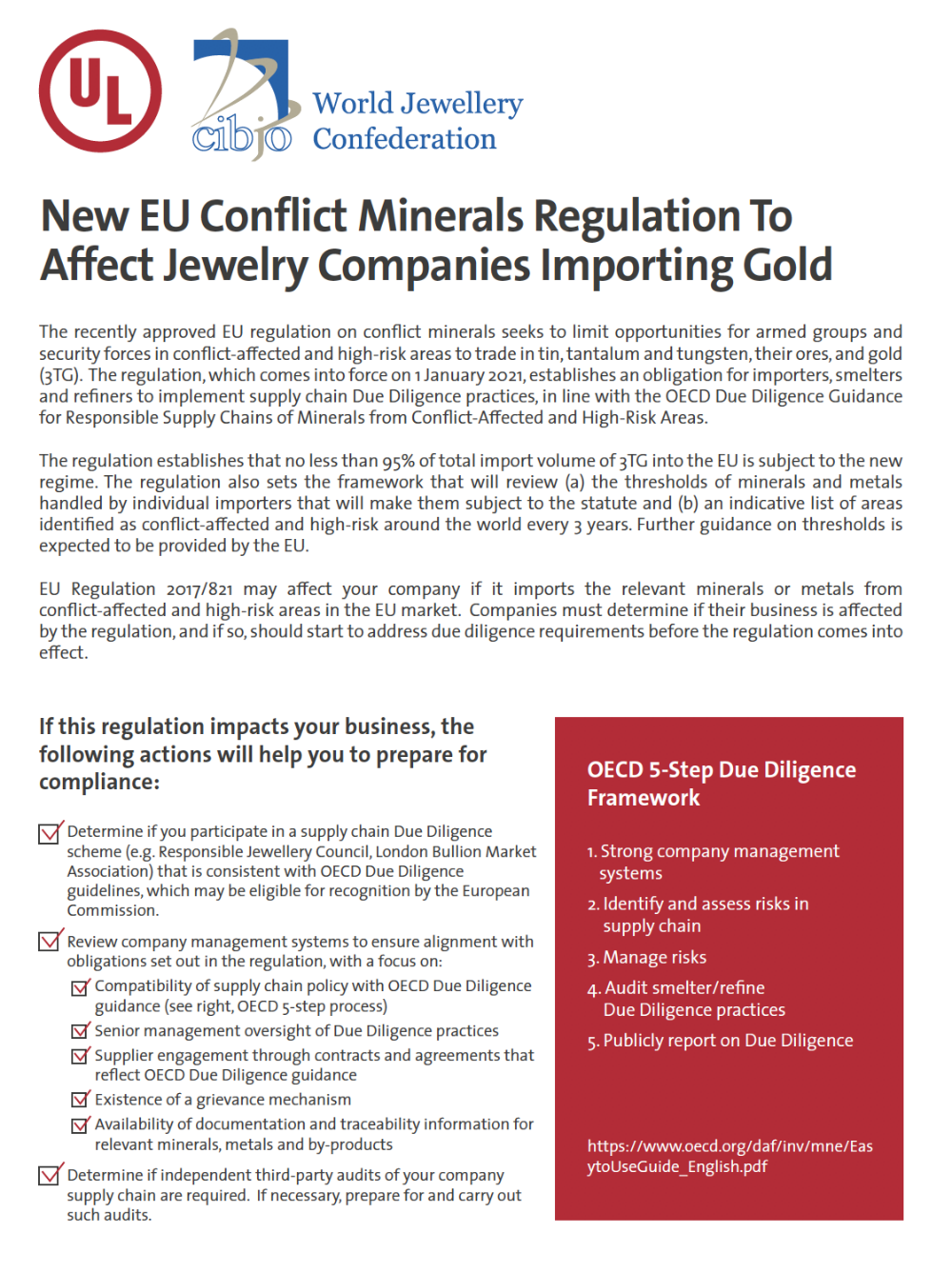 Thumbnail - New EU Conflict Minerals Regulation to Affect Jewelry Companies Importing Gold