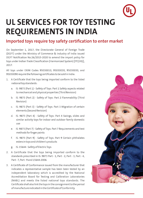 Thumbnail - UL Services for Toy Testing Requirements in India