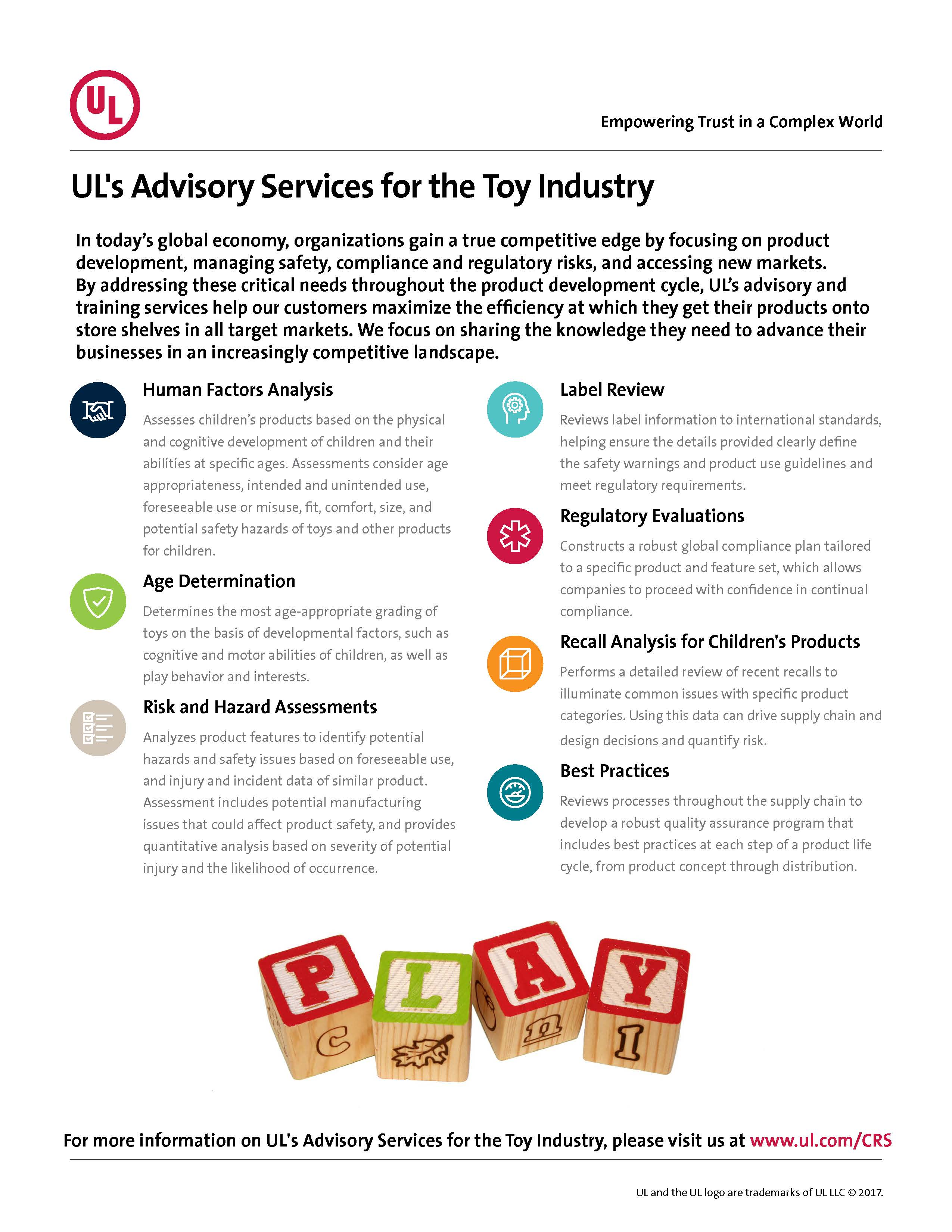 Toy Advisory Services Sell Sheet