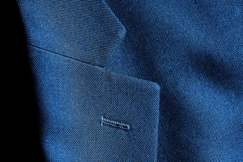 Lapel of nice suit jacket