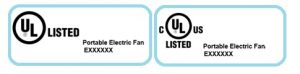 electric fan non-holographic label