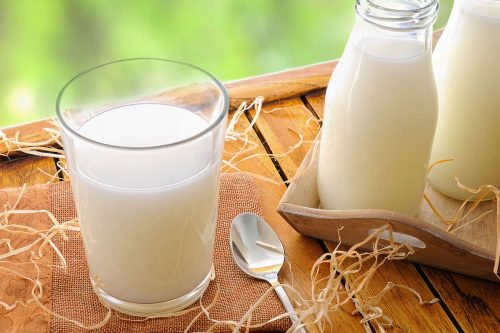 Glass Of Milk On A Table