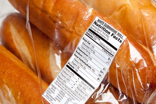Nutrition Label On Loaves
