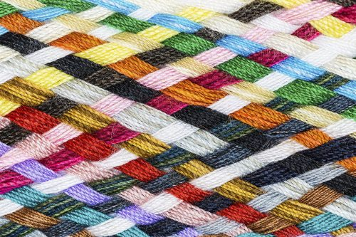 Strip woven cotton multicolore