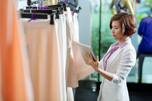 bigstock choosing skirt