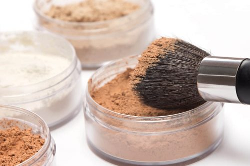 Makeup Brush With Loose Cosmet