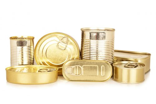 Assortment Of Golden Food Tin